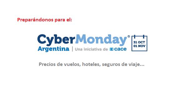 Precios de referencia de viajes y turismo antes del Cyber monday 2016 argentina muebles