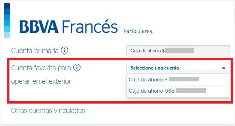 El bbva franc s ya permite elegir qu cuenta utilizar para compras y extracciones con d bito en Habilitar visa debito para el exterior