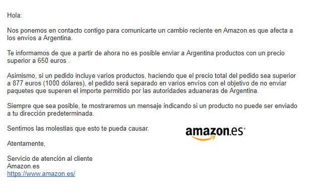 CAMBIOS DE PRECIO AMAZON