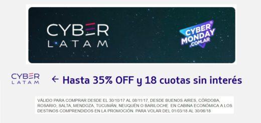 CyberMonday 2017 Aerolínea LATAM