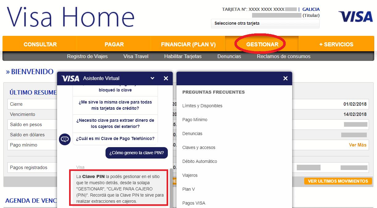Visa quit la posibilidad de solicitar online la clave pin para cajeros info viajera Habilitar visa debito para el exterior